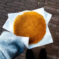 A Giant Homemade Stroopwafel from Albert Cuypmarkt
