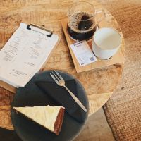 Coffee and Carrot Cake at Bocca Coffee