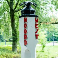 A Bridgepost in Oosterpark