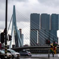 Erasmus Bridge on a Rainy Day