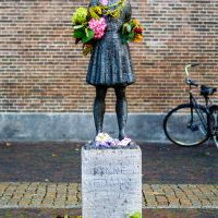 Freshly Flowered Anne Frank Memorial