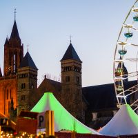 Maastricht Cathedral and Ferris Wheel