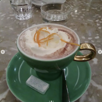 Café culture is a big part of Vienna. This is a Schokolade Schönbrunn (basically hot cocoa with a hint of orange)