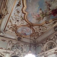 The inside of the beautiful recital hall/room at Palais Corbelli (IES Vienna).