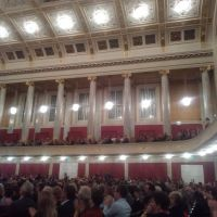 Inside the Vienna Konzerthaus, another music venue in Vienna. I saw the Lincoln Center Jazz Orchestra perform.