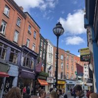 Grafton Street in the middle of a busy day