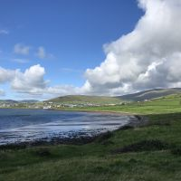 The view of Dingle from the beach