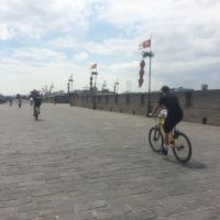 Biking Across the City Wall