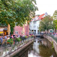 Freiburg Cafe Culture and Canal