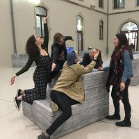 art museum and friends