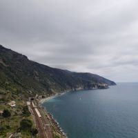 A view of the sea from the top of the hills of Corniglia