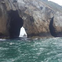 León Dormido (Sleeping Lion): a beautiful rock formation rising out of the ocean's depths off the coast of San Cristóbal