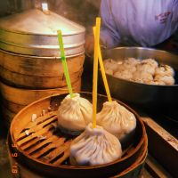 Xiao Long Bao (Soup Dumplings). They put a straw in them so you can sip the soup out and then eat the dumpling after