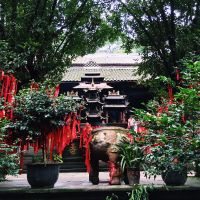 One of the Daoist temples on Mount Qingcheng