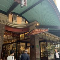 The entrance to The Strand Arcade, which opened its doors in 1892.