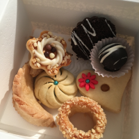 Cookies! And small pastries, inside the box
