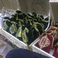 Henna in velvet bags to be presented to the bride