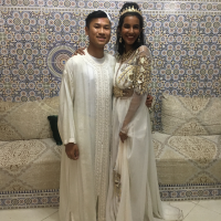 Our happy groom and bride, William and Yasmeen!