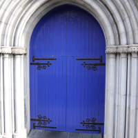 Arched Blue Doorway in Dublin