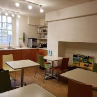 student lounge with kitchenette