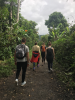 Enjoying a hike through the clouded Andean forest of Mindo, Ecuador